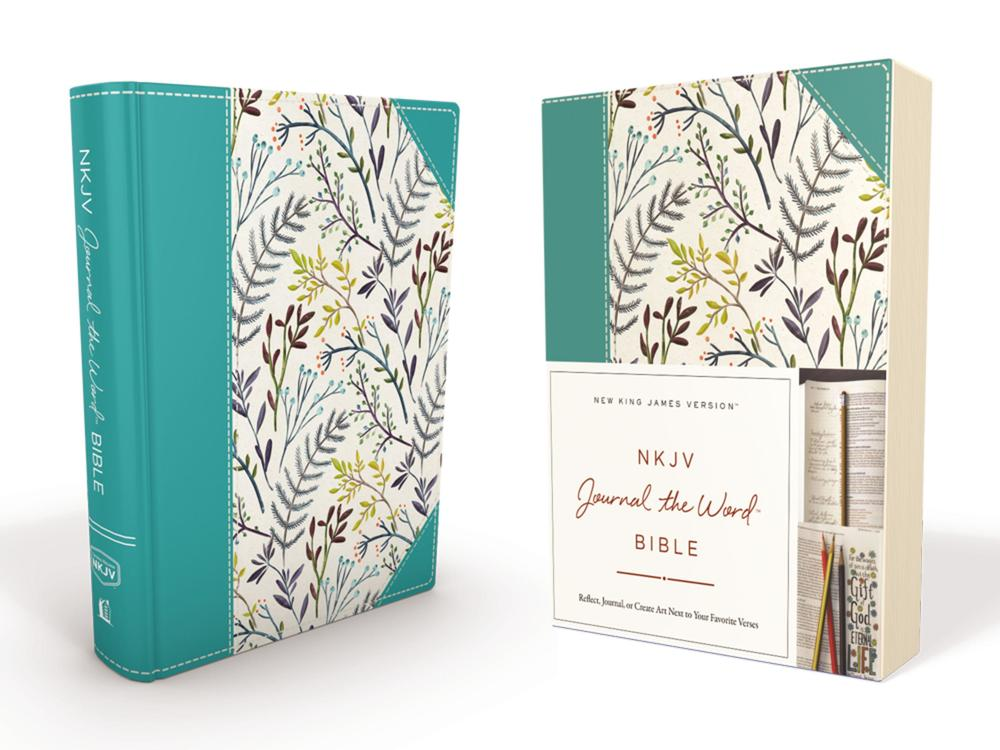 Nkjv, Journal The Word Bible, Cloth Over Board, Blue Floral,